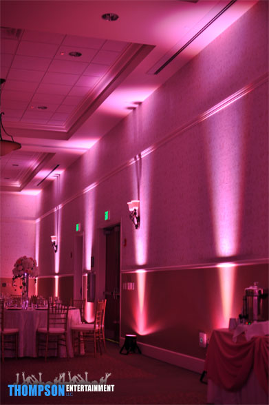 pink led up lighting lake mary events center