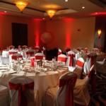 Orlando Airport Marriott Wedding LED Up Lighting