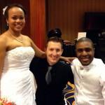Orlando Airport Marriott Wedding Couple