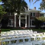 duncan house wedding back yard
