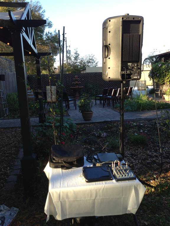 K Restaurant Ceremony Dj Setup Dj Scott Thompson Orlando Wedding Dj